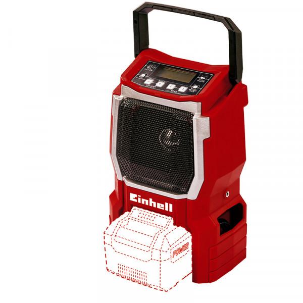 Einhell Akku-Radio TE-CR 18 Li, ohne Akku und Ladegerät - 3408015