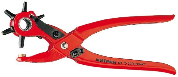 Knipex Pinza a fustella rossa, verniciata a polvere 220 mm - 90 70 220 EAN