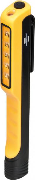 Brennenstuhl LED Clipleuchte HL 100, Werkstattlampe mit integriertem Magnet und Clip, 3 x AAA Batterien, max. Leuchtdauer 8h - 1175990010