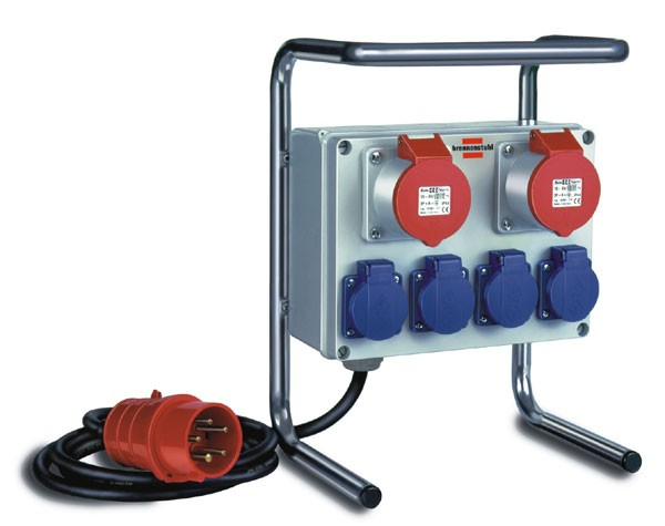 Brennenstuhl Piccolo distributore di corrente compatto BKV 2/4 G IP44
