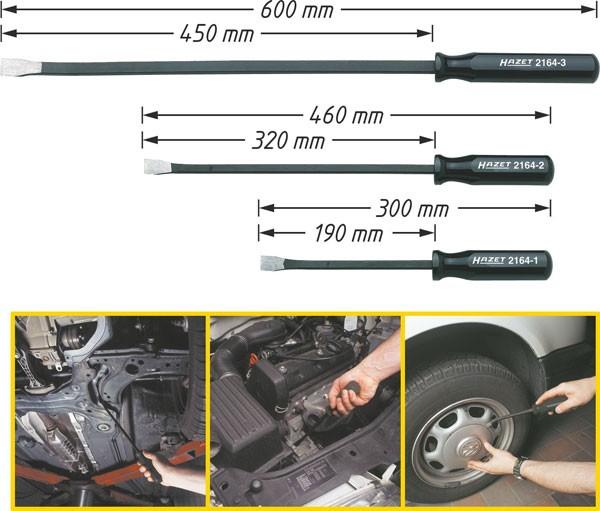 Hazet Krafthebel-Satz - Anzahl Werkzeuge: 3 - 2164/3