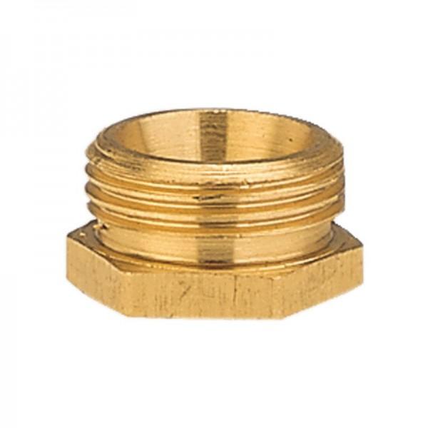 Gardena Raccord réducteur en laiton 33,3 mm (G 1)-filetage extérieur/ 26,5 mm (G 3/4)-filetage intérieur - 07271-20