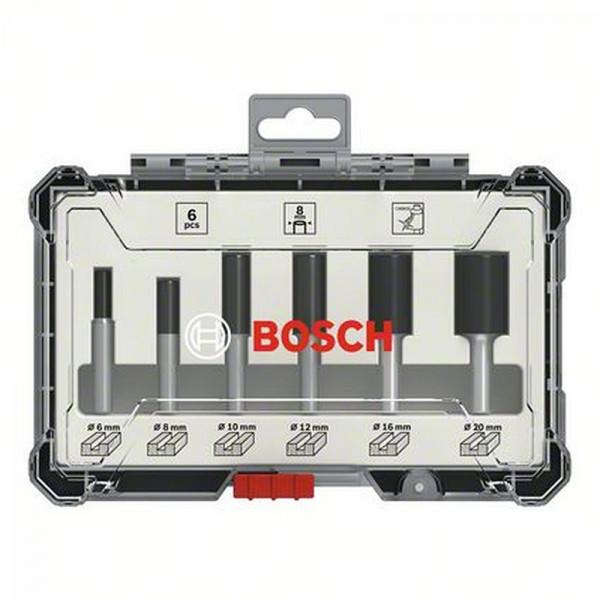 Bosch Kit de 6 fraises droites à queue de 8 mm - 2607017466