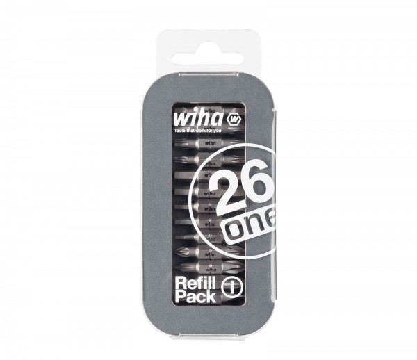 Wiha Set di inserti LiftUp 26one confezione di riserva 1 Assortiti, 13 pz., in blister (41385)