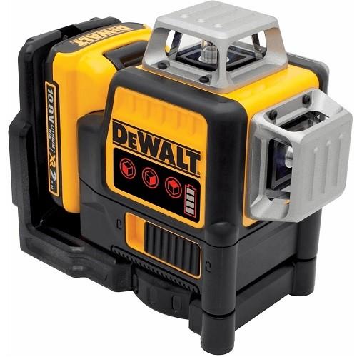 DeWALT Laser 3x360°, 10,8V/2Ah, rosso - DCE089D1R-QW