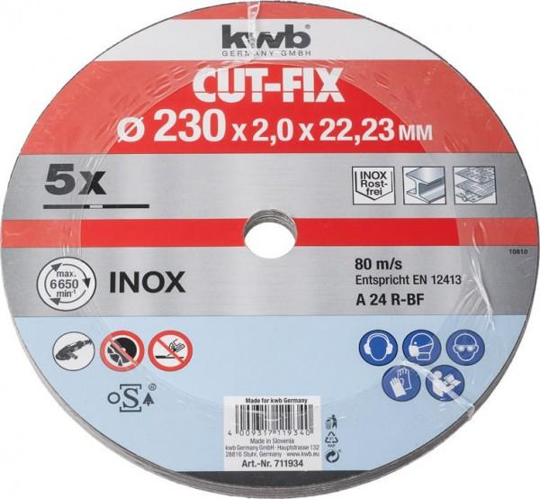 KWB CUT-FIX® doorslijpschijven extra dun, metaalbewerking, voordeelverpakking, ø 230 mm - 711934