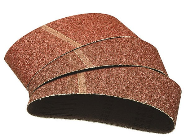 Wolfcraft Bandes abrasives 100x560 mm, grain 40/80/120, Lot de 9 (3 de chaque)