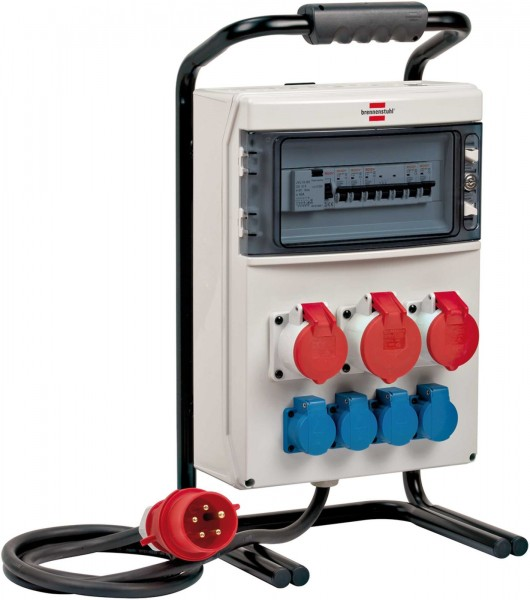 Brennenstuhl Distributore di corrente portatile,BSV 4, IP44, 2m H07RN-F5G4,0,1x32A, 2x16A - 1154900020