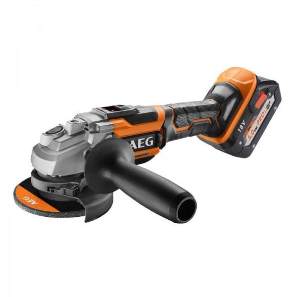 AEG Elektrowerkzeuge Brushless Akku-Winkelschleifer BEWS18-125BLLI-502C - 4935464417