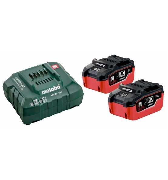 Metabo Set di base LiHD 2x LiHD 18V/5,5 Ah, ASC 30-36 - 685122000