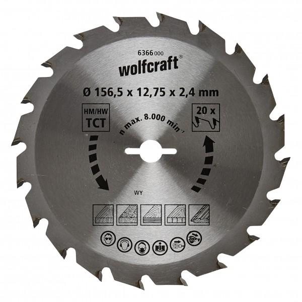 Wolfcraft Lame per seghe circolari manuali serie verde (tagli rapidi, medio/grossi) - 6366000