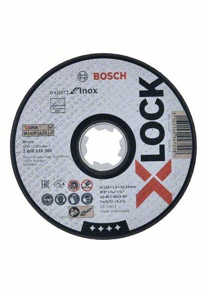 Bosch X-LOCK Trennscheibe gerade Expert for Inox, AS 46 T INOX BF, 125 mm, 1,6 mm - 2608619265