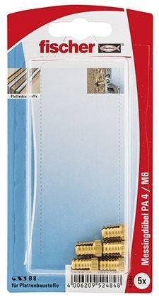 Fischer Cheville en laiton PA 4 M6/13,5 K, libre service - 052484