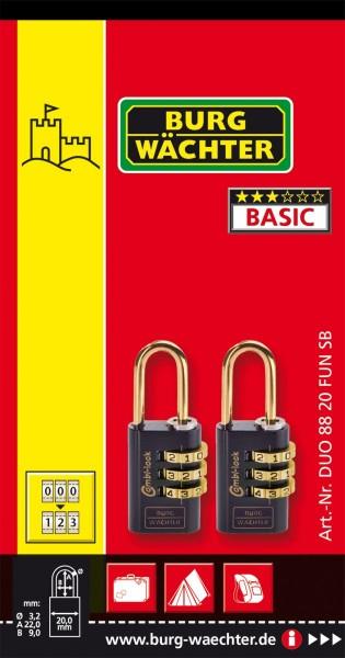Burg-Wächter Zahlenschloss-Set Duo 88 20 F SB