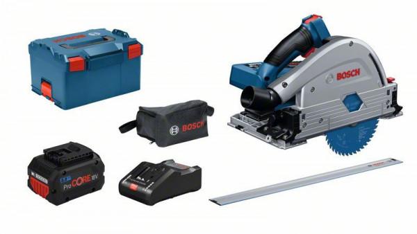 Bosch Professional Akku-Tauchsäge BITURBO GKT 18V-52 GC, 2 x Akku 8.0Ah ProCORE18V, Schnellladegerät - 0615990L55