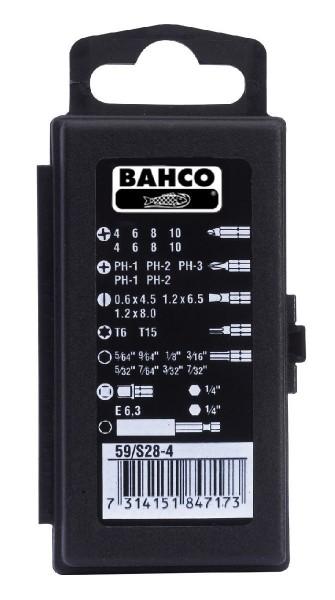 Bahco JEU D'EMBOUTS, 28 PCS, SL, PH, HEX, T, TS - 59/S28-4