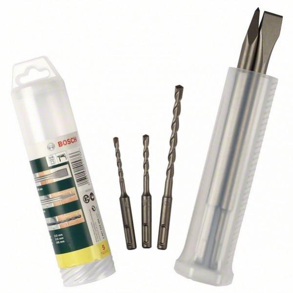 Bosch Set de forets et burins SDS-plus, 5 pièces