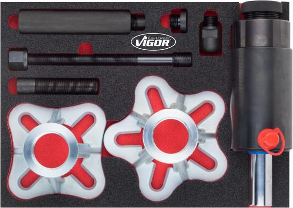 Vigor Aandrijfassen uitdrukinrichtingsset, inclusief 22 t hydraulische druk- en trekcilinder - V4904