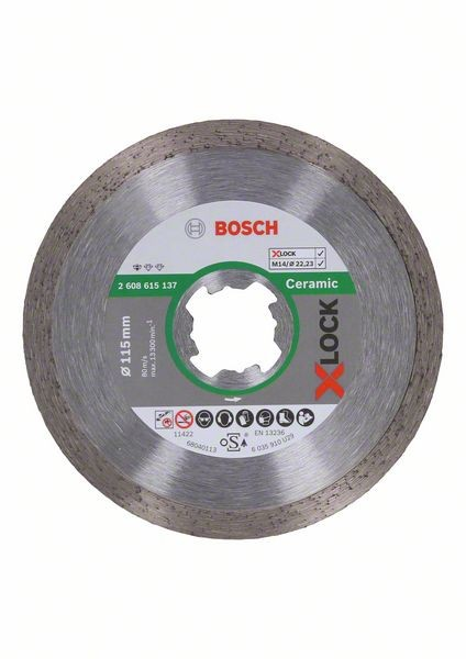 Bosch Disco diamantato X-LOCK Standard for Ceramic 115x22,23x1,6x7 mm - 2608615137