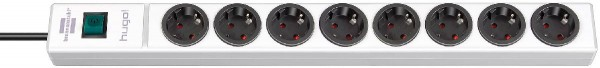 Brennenstuhl hugo! Prolongateur multiprises 8 prises blanche 2m H05VV-F 3G1,5