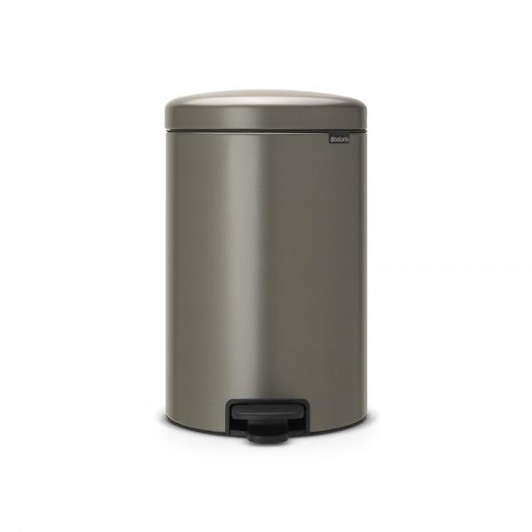 Brabantia Poubelle à Pédale newIcon, 20 litres, Fermeture Silencieuse, Seau en Plastique - Platinum