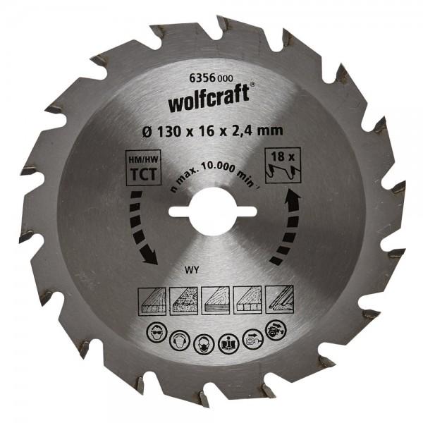 Wolfcraft lama per sega circolare HM, 18 denti