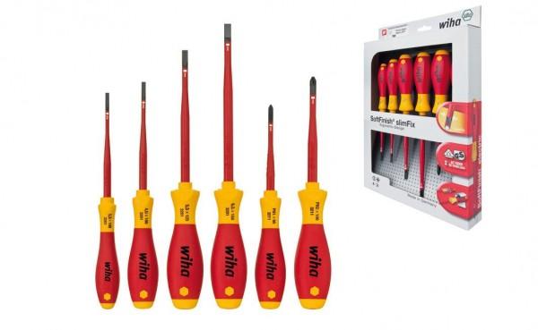 Wiha SoftFinish electric slimFix Schlitz/ Phillips Schraubendrehersatz, 6-tlg. (3201 K6) - 35389