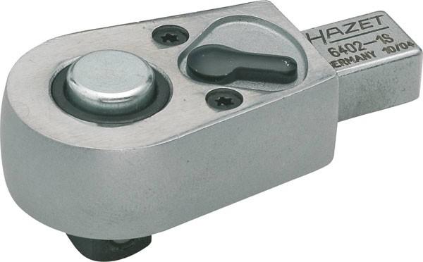 Hazet Einsteck-Umschaltknarre - Einsteck-Vierkant 9 x 12 mm - Vierkant massiv 6,3 mm (1/4 Zoll) - Gesamtlänge: 46.5 mm - 6401-1S