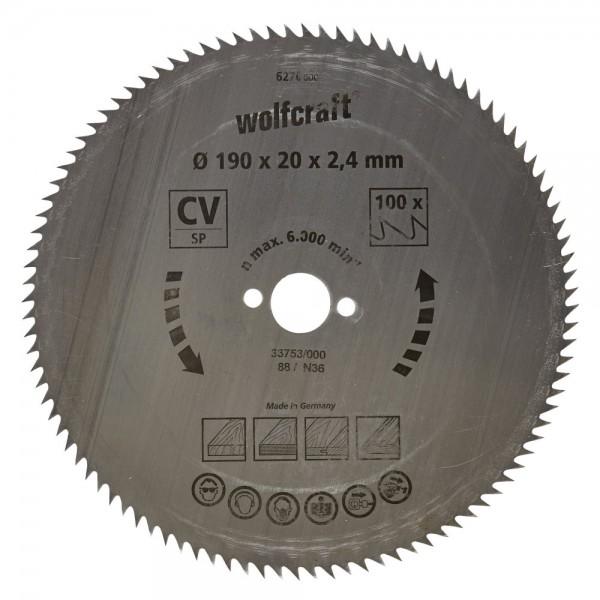 Wolfcraft lama per sega circolare CV, 112 denti