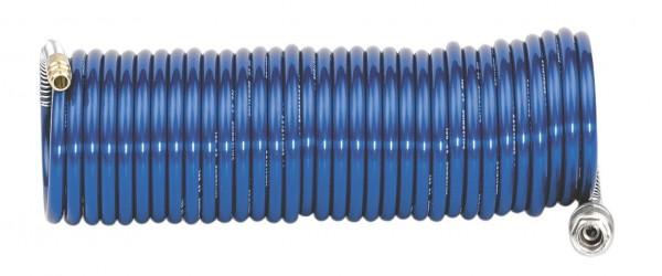Metabo Spiralschlauch, Rilsan 8 x 1 / 7,5 m lang, mit Schnellkupplung und Stecknippel