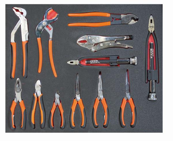 Bahco Werkzeugeinlage 3/3 Modul, Zangen, 12 Tlg - FF1A15