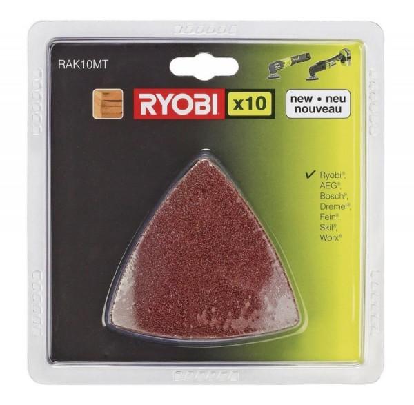 Ryobi RAK10MT 10 teiliges Schleifpapierset für Multitool