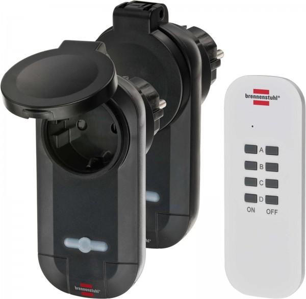 Brennenstuhl Set radiocomando RC 0201 N, set di 2 prese radio, Batteria CR2032 - 1507030