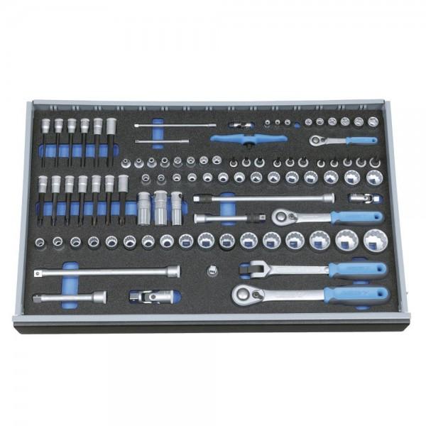"""Gedore Composition de douilles 1/4""""-3/8""""-1/2"""" en module d'outils CT 4/4, 91 pièces - 2005 CT4-U-20"""