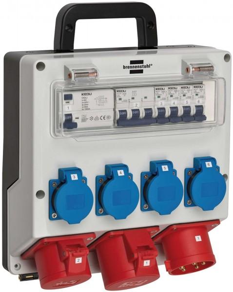 Brennenstuhl Tragbarer Wandverteiler 32 A, IP44, FI-Personenschutzschalter - 1154890020