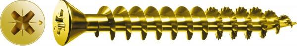 Spax Universalschraube, 3 x 10 mm, 1000 Stück, Vollgewinde, Senkkopf, Kreuzschlitz Z1, S-Spitze, YELLOX - 0321020300105