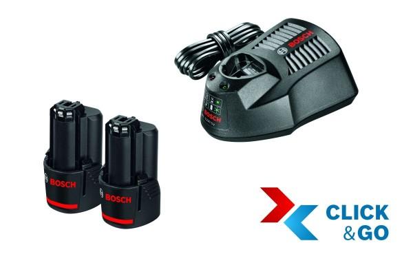 Bosch Professional Akku Starter-Set: 2 x GBA 12 Volt, 3,0 Ah und GAL 1230 CV