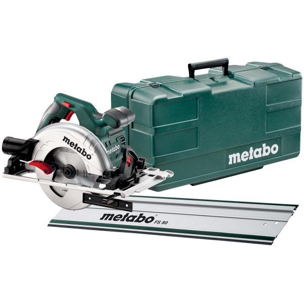 Metabo Handkreissäge KS 55 FS Set, mit Führungsschiene FS 80, Kunststoffkoffer - 691088000