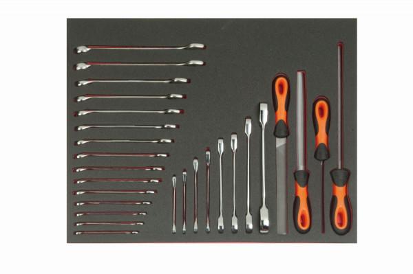 Bahco Werkzeugeinlage 3/3 Modul, Schraubenschlüssel & Feilen, 27 Tlg - FF1A5006