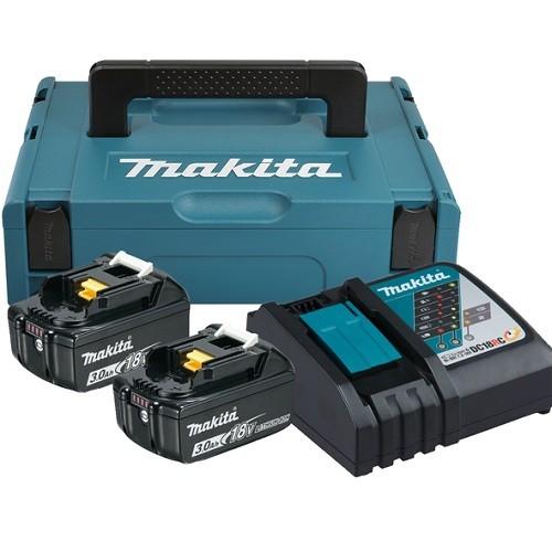 Makita Kit energy Li-ion 18V 3,0Ah + caricabatterie doppio rapido - 197952-5