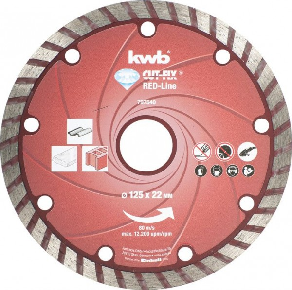 KWB CUT-FIX® Red-Line DIAMANT-doorslijpschijven, ø 125 mm - 797540