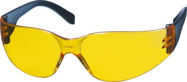 KWB Veiligheids- en vrijetijdsbril, geel transparant - 378610