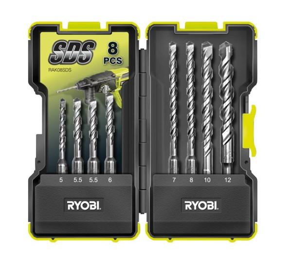 Ryobi Set SDS-plus hamerboren (8-delig) - RAK08SDS