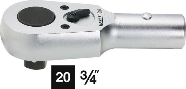 Hazet Umschalt-Knarrenkopf - Vierkant massiv 20 mm (3/4 Zoll) - Gesamtlänge: 165 mm - 1016