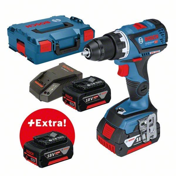 Bosch Trapano avvitatore a batteria GSR 18V-60 C Professional + 3 × 4,0-Ah-batterie + L-BOXX - 0615990K6G