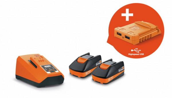 Fein Akku-Starter-Set USB EDITION, Spannung 18 V, Kapazität 3 Ah - 92604315020