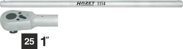 Hazet Umschaltknarre mit Drehstange - Gesamtlänge: 824 mm - Anzahl Werkzeuge: 2 - 1116/2