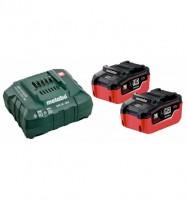 Metabo Basis Set LiHD 2x LiHD Akkupacks (18V/5,5 Ah), ASC 145, Karton - 685122000