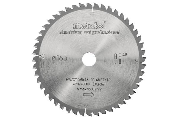 Metabo AluminiumCutProf 165x1,6/1,2x20mm Z48 FZ/TR -5° - 628276000