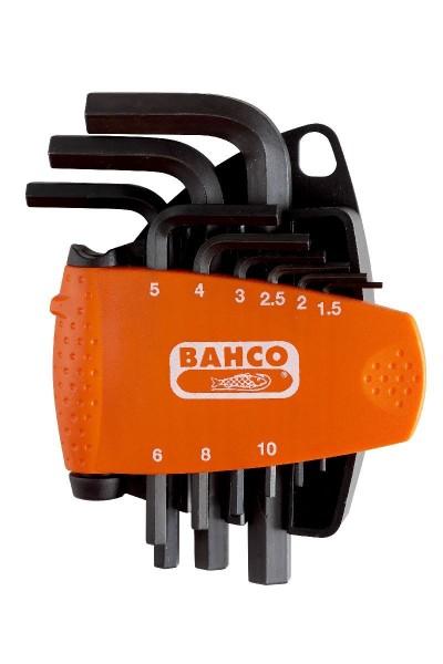 Bahco JEU DE TOURNEVIS D'ANGLE, 9 PCS, 6 PANS, BRUNIS - BE-9578